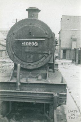 Engine  40696 awaits scrapping at Green Park, c.1966?