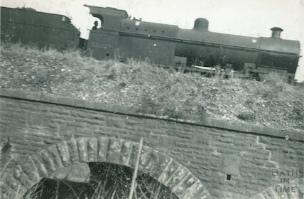 2-8-0 No,53807 heading towards Bath at Newbridge, c.1959