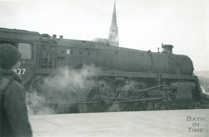 Engine No.73027 at Bath Spa, c.1960s
