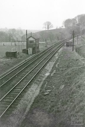 Twerton Tunnel Signal Box, looking towards Bath, c.1960s