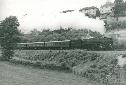Engine No.92210 9F2 climbing through Lyncombe Vale, c.1960s