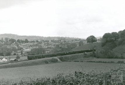 A diesel train approaching Twerton tunnel, 9 May 1964