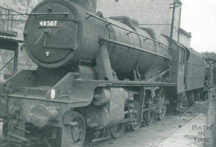 Stanier class 84 No.48507 at the m.p.d. at Bath Green Park m.p.d., c.1960s