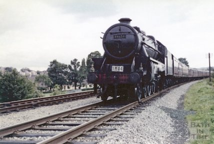 The last Pines Express No.44659 at Newbridge, Bath , October 1962