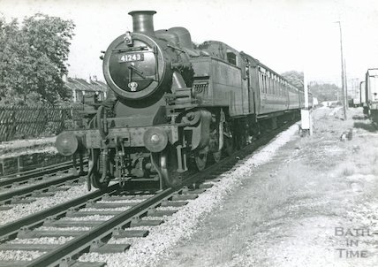 Engine No.41243 passing the former station at Weston, Bath, c.1960s