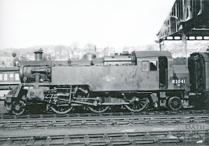 B.R. Standard class tank No.82041 at Bath Green Park, c.1960s