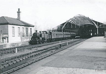 B.R. Class 82xxx waiting with a train at Bath Green Park, c.1960s