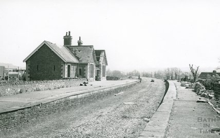 The derelict Bitton station looking from Mangotsfield to Bath, 29 April 1973