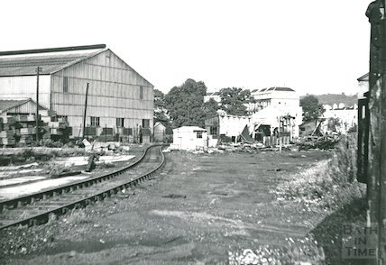 The dilapidated yard approaching Green Park station, c.1960s