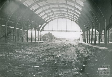 The derelict Green Park station, c.1970