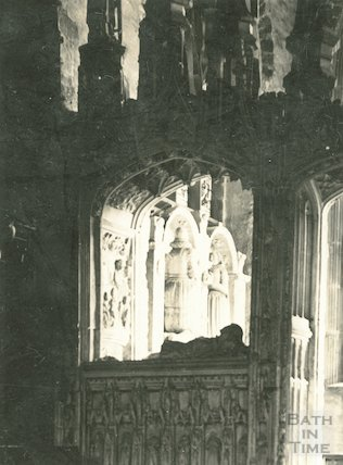 Interior of Kirkham Chantry Chapel in St John's, Paignton,c.1930s