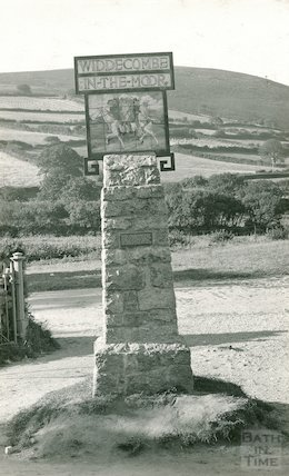 The old village sign, Widdecombe in the Moor, Dartmoor, c.1920s