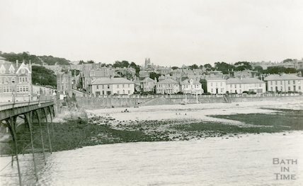 Clevedon seafront, viewed from the pier, c.1920s