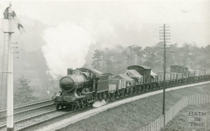 A goods train in the vicinity of Bath, c.1920s