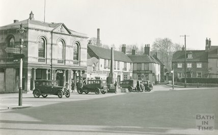 The marketplace and Lopes Arms Hotel,  Westbury, Wiltshire, c.1920s