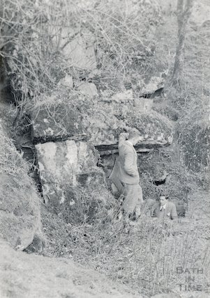 The entrance to Eastwater Cavern, near Priddy, Somerset, c.1930s