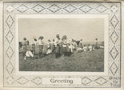 A greetings card from a military training camp, c.1900s?