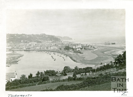 View of Teignmouth and pier, Devon, c.1920s