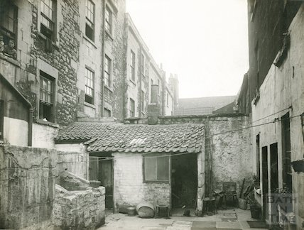 Rear of Peter Street, Bath, c.1930s