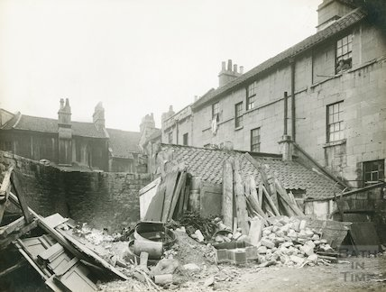 Rear of Peter Street, c.1930s