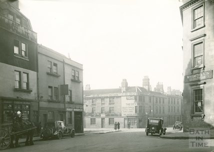 Corn Street, entrance to Ambury on the left, 1933