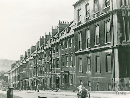 Gay Street West side from Circus to Queen's Parade Place, c.1940s