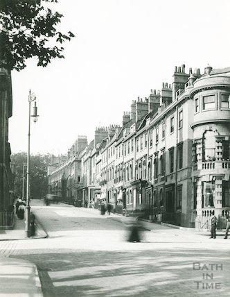 Gay Street looking from Queen Square towards the Circus, c. 1895