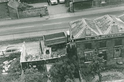 No. 32 Green Park, demolished garden building, May 1973