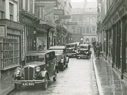 Green Street with cars, c.1930s