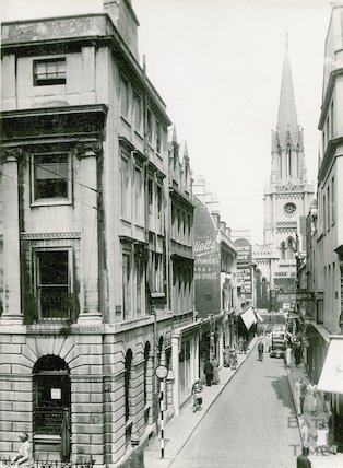 Green Street, view from Milsom Street, 1933