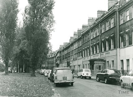 Grosvenor, view from the west, showing the use which is made of this turning as a car park, 1972