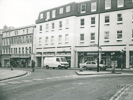 The Harvey Block, High Street, Bath, taken from Bridge Street, 1987