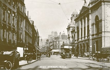 Bath High Street. Postcard view looking North, c.1912