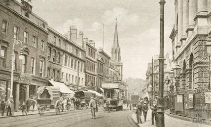 Bath High Street view, looking north, c.1910