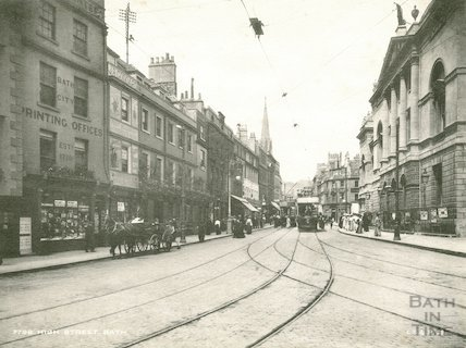 Bath High Street view looking north, c.1910