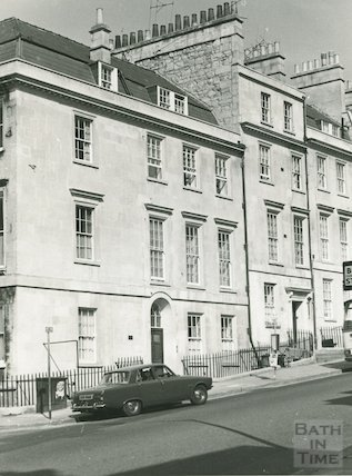 Newly cleaned buildings on Lansdown Road,  1975