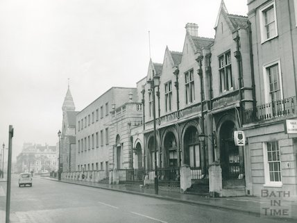 George Bayntun, Manvers Street looking north, Feb 1969