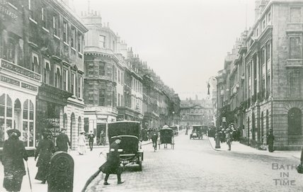 Milsom Street from a postcard postmarked 10 May 1915