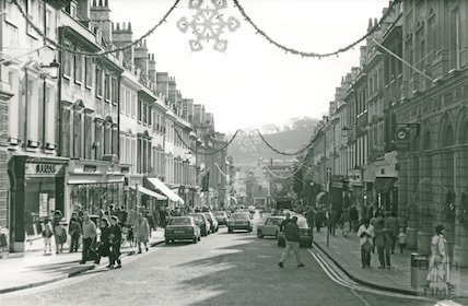 Milsom Street from George Street, 1987