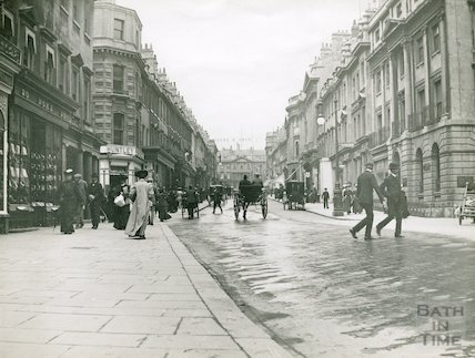 Period view looking up Milsom Street, c.1905
