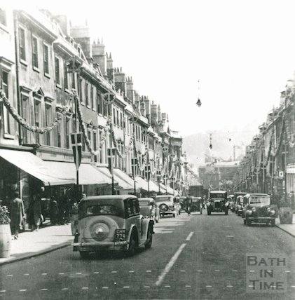 Milsom Street looking down, 1936