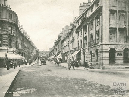 General view up Milsom Street, c.1900