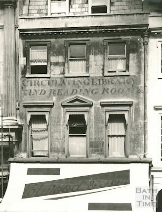 Facade of No 43 Milsom Street, formerly Circulating Library and Reading Room, 1938