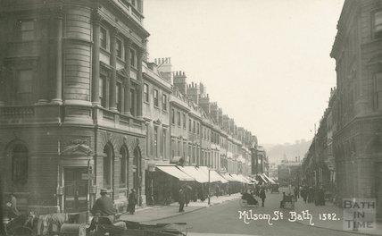 View looking down Milsom Street, c.1905