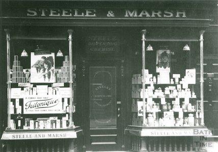 No 6. Milsom Street, Steele & Marsh, chemists, c.1920