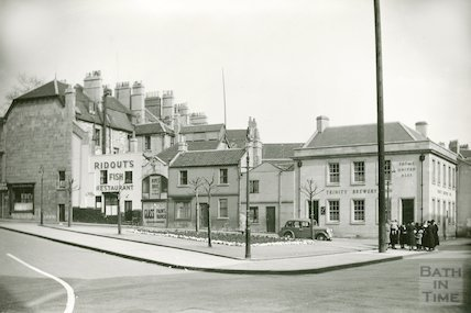 Houses scheduled for demolition, New Street, Kingsmead, 1939