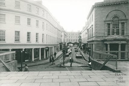 New Bond Street, showing Post Office and on opposite corner, Habitat.