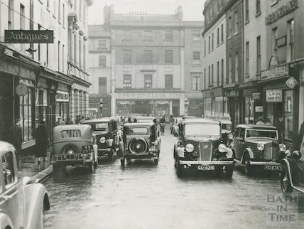 Time '11.50' - New Bond Street, cars and shops, c.1930s
