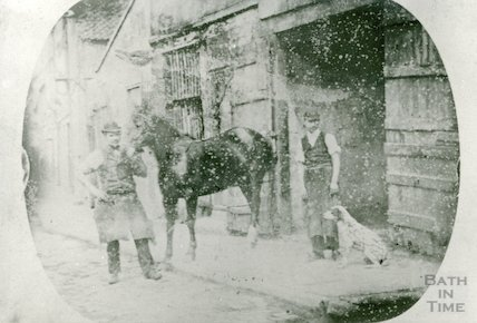 Blacksmith's, Newark Street at the back of the South Pole Hotel, Dorchester Street, c.1880