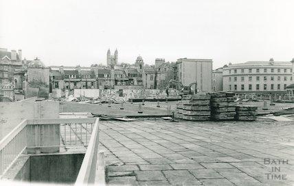 Podium Site, Northgate Street. Construction of upper flooring, 1988